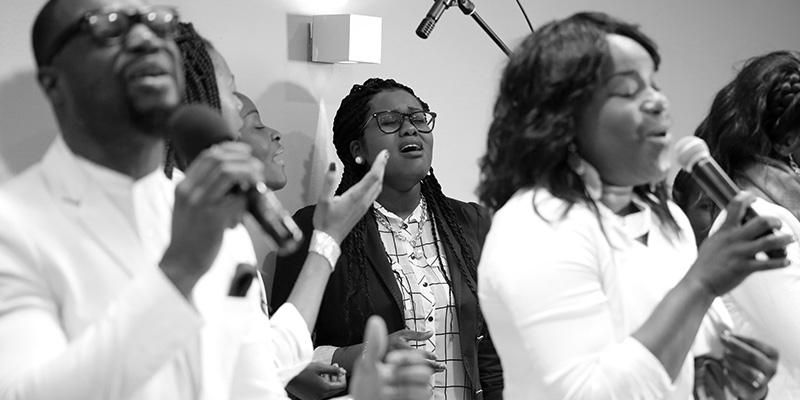 Groupe chorale, membre de de l'église cep-resurrection